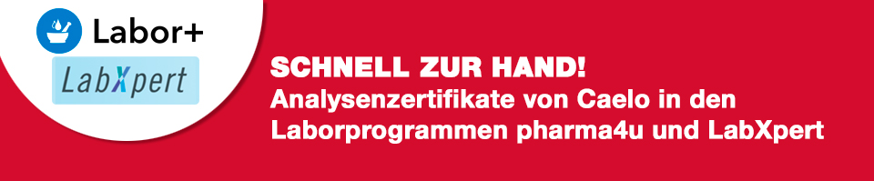Analysenzertifikate in Laborprogrammen Labor+ und pharma4u